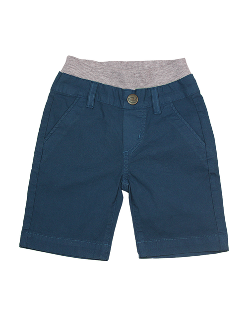Poplin Shorts - Teal Garment Dyed