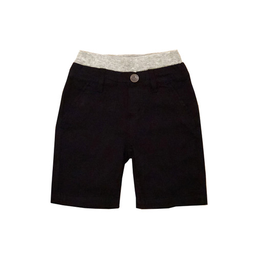 Poplin Shorts - Black Garment Dyed