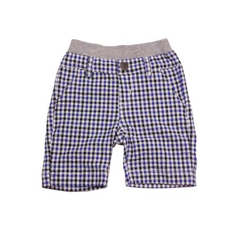 Washed Seersucker Shorts - Mulit Royal