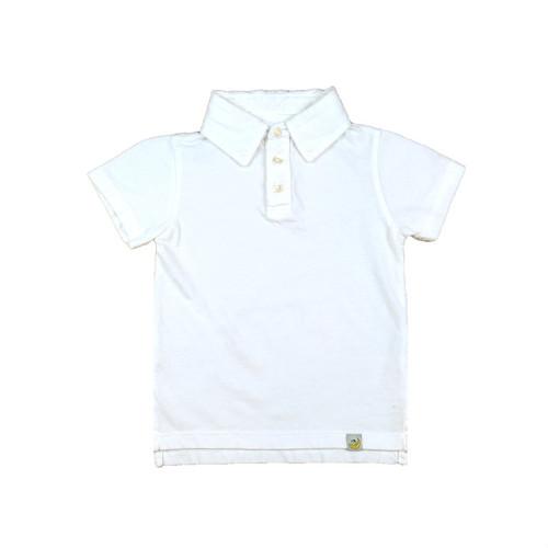 Organic Cotton Polo Shirt - White Garment Dyed