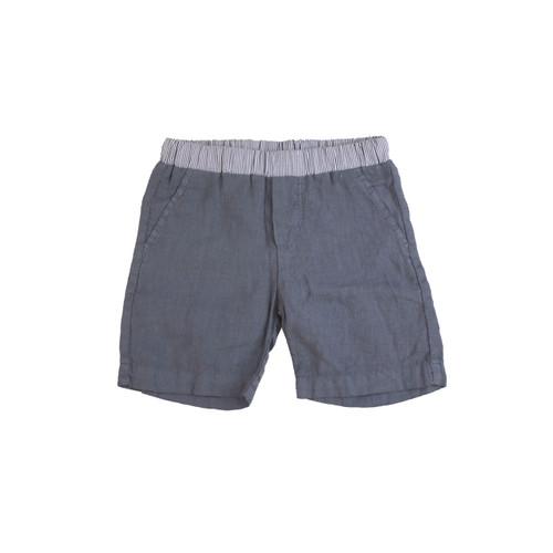 Organic Linen Shorts - Navy Garment Dyed