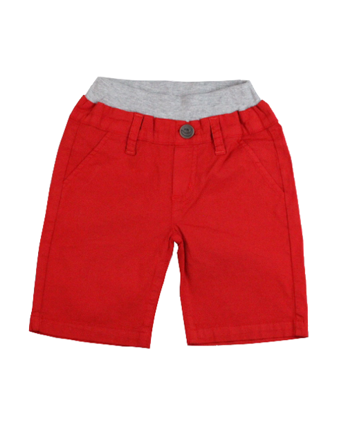 Poplin Shorts - Bright Red Garment Dyed