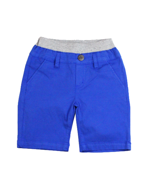 Poplin Shorts - Bright Blue Garment Dyed