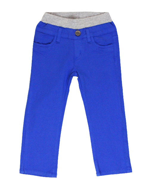 Poplin Pants - Bright Blue Garment Dyed