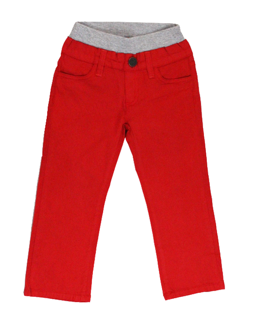 Poplin Pants - Bright Red Garment Dyed