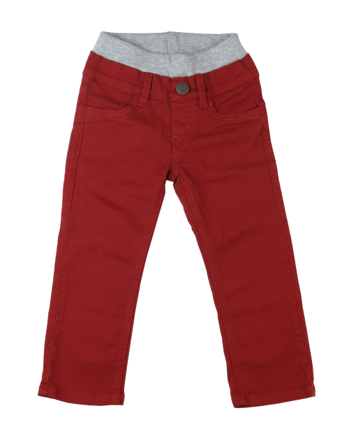 Twill Pants - Dark Red Garment Dyed