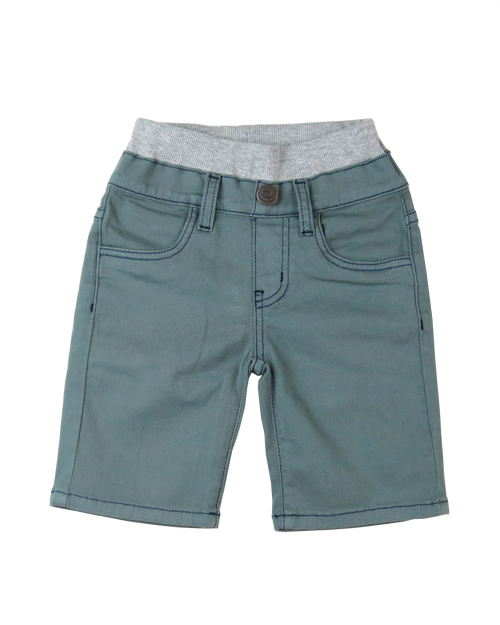 Twill Shorts - Sage Garment Dyed