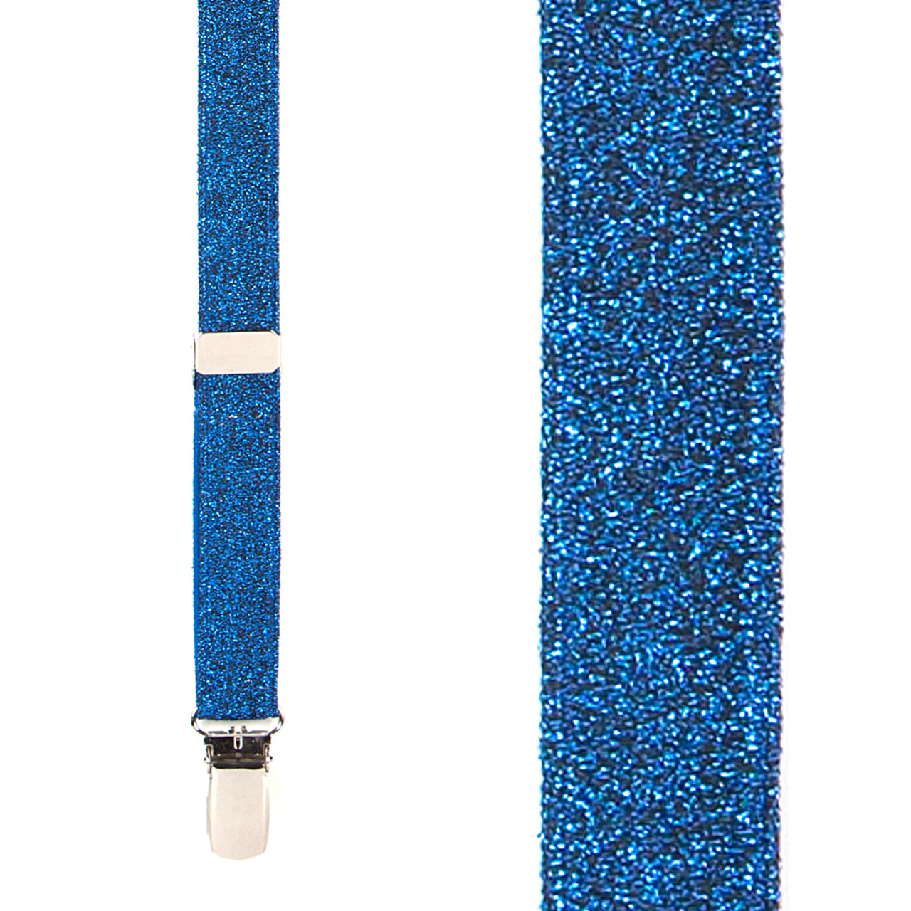 805332b0e9a Royal Blue Glitter Suspenders - 1 Inch Wide Clip