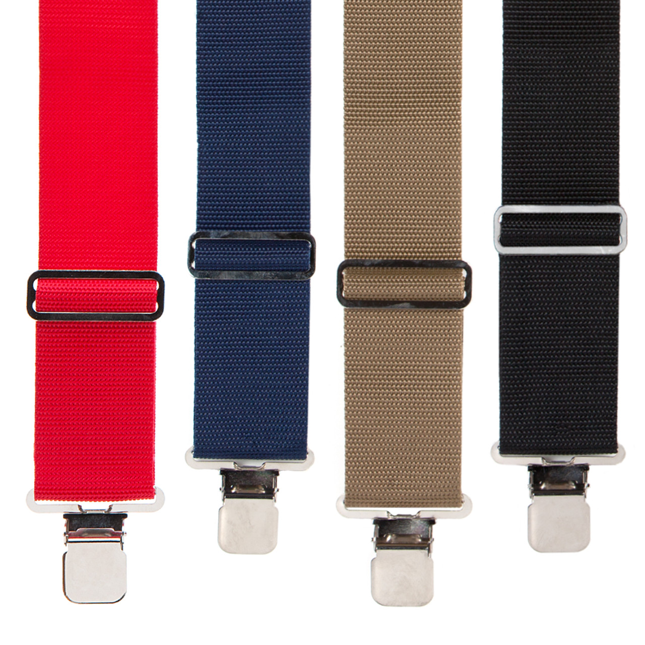 SuspenderStore Mens Logger Suspenders BUTTON 4 sizes, 5 colors