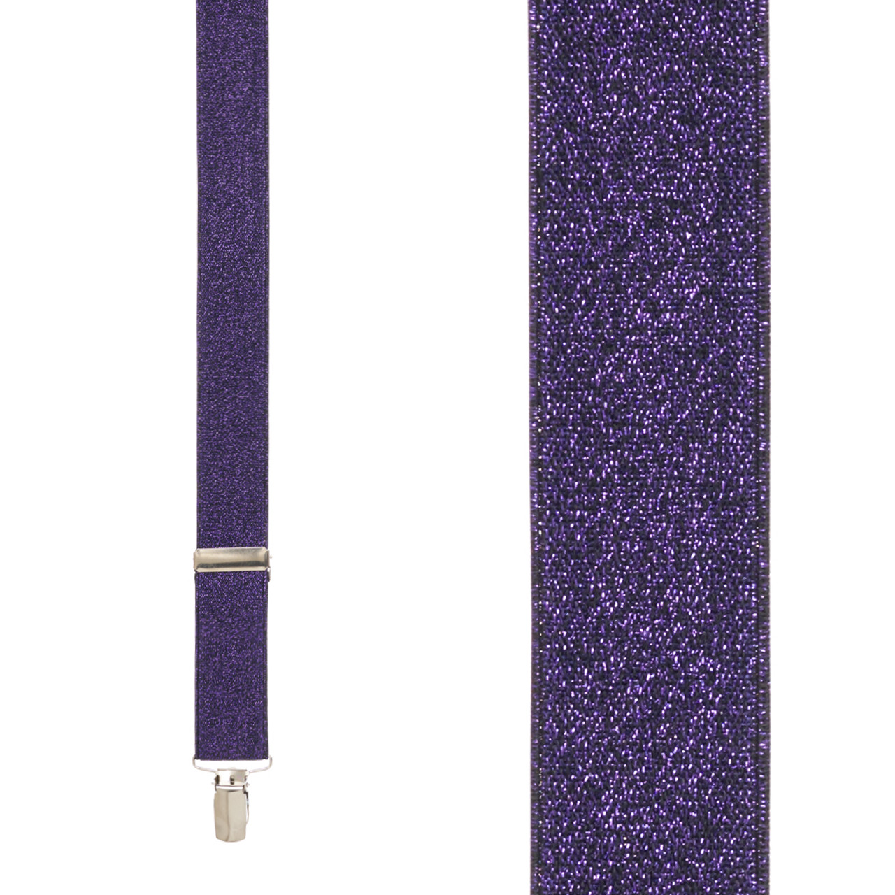 dac14ca51ad Glitter Suspenders in Purple - Front View