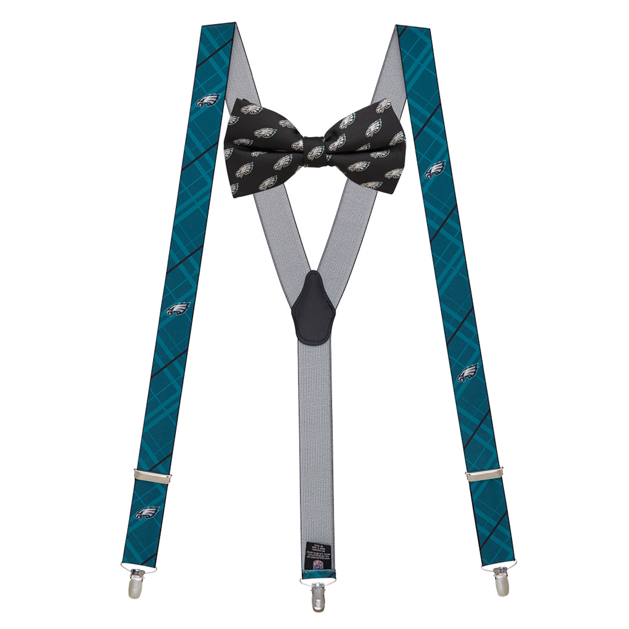 aebc87304c5 NFL Philadelphia Eagles Bow Tie and Suspenders Set