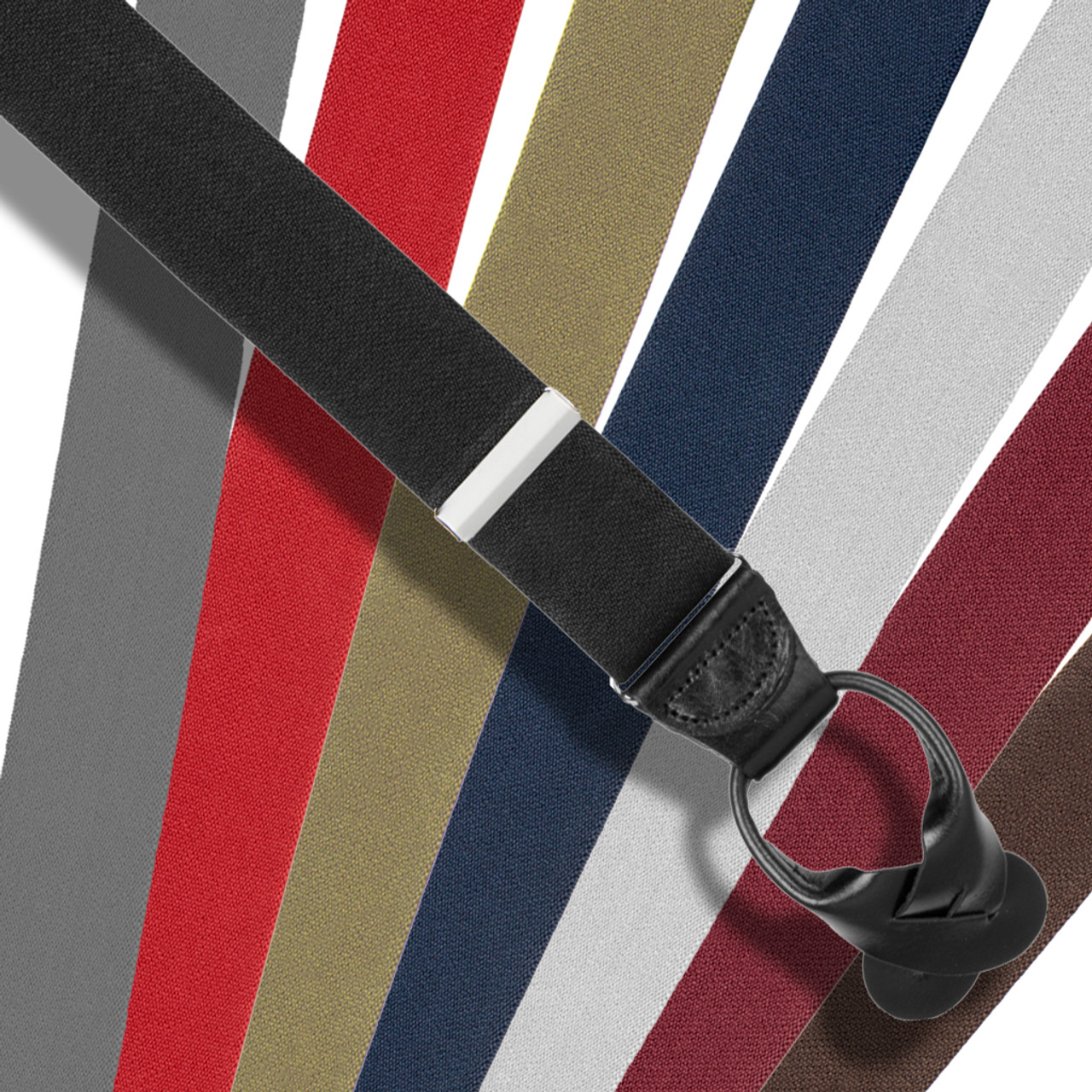 b44a2d78192 Big   Tall Suspenders 1.5-Inch Wide Elastic Button-On