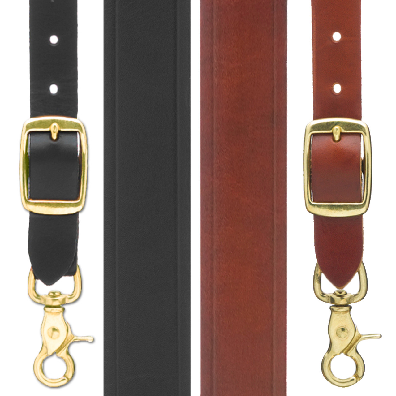 9bcfd7a31 Handcrafted Western Leather Suspenders - Plain Crease - Trigger Snap ...