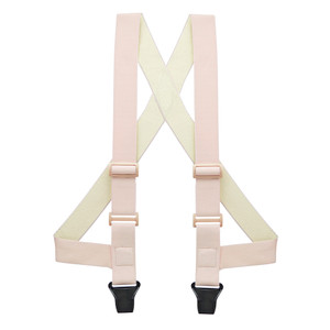 Undergarment Suspenders - BEIGE - Airport Friendly SIDE CLIP - Front View