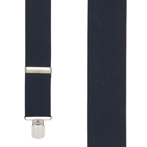 NAVY 2-Inch Wide Pin Clip Suspenders - Front View