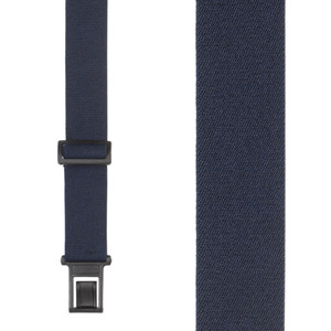 Perry Suspenders - Front View - Navy Blue 1.5-Inch Elastic