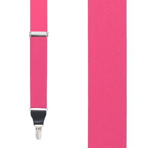 Grosgrain Clip Suspenders - Dark Pink Front View