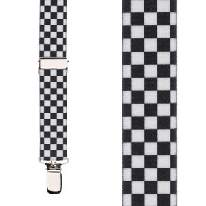 Checkered Suspenders for Kids - Front View