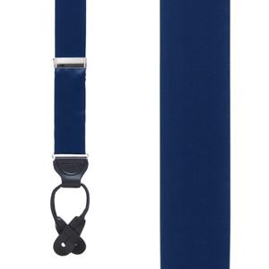 NAVY Bangkok Silk Suspenders - Button - Front View