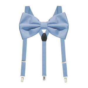 Bow Tie and Suspenders Set in Periwinkle