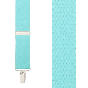 Front View - 1.5 Inch Wide Clip Suspenders - TIFFANY BLUE