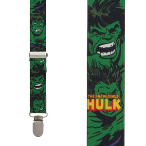 Incredible Hulk Suspenders - Front View