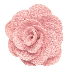 Crepe Lapel Flower in Light Pink