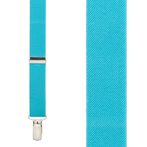 Turquoise Suspenders - 1 Inch Wide (Y-Back) - Front View