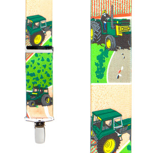 Tractor Suspenders for Kids - Front View