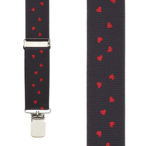 Hearts SALE Suspenders - Front View