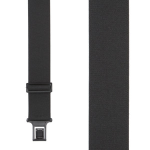 Perry Suspenders - Front View - Black 2-Inch Elastic