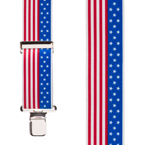 Classic Suspenders - Front View - USA Stars & Stripes