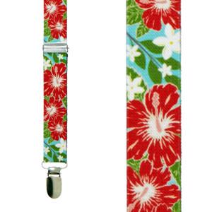 Hibiscus Suspenders - Front View