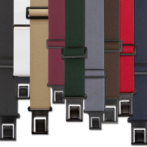 1.5 Inch Wide Perry Belt Clip Suspenders - All Colors