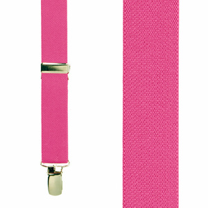 Infant Suspenders in Dark Pink - Front View