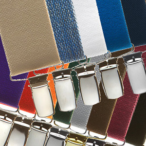 1.5 Inch Wide Clip Suspenders - All Colors