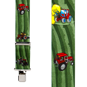 Red Tractors Suspenders - Front View