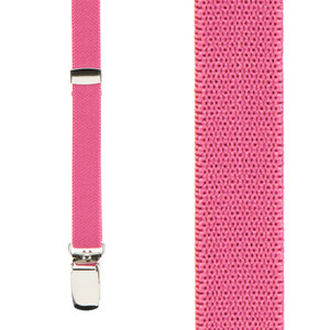 Skinny Suspenders in Dark Pink - Front View
