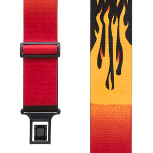 Perry Suspenders - Front View - Orange Flames