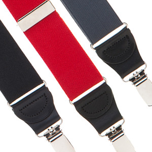 1.25 Inch Elastic Drop Clip Y-Back Suspenders - Front View