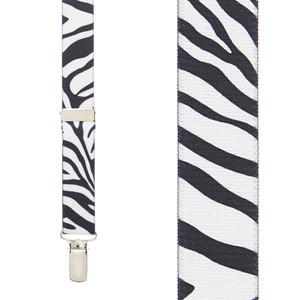 Zebra Suspenders for Kids - Front View