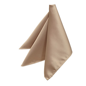 Pocket Square - TAUPE - Full View