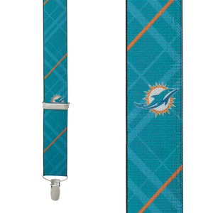Miami Dolphins Suspenders - Front View