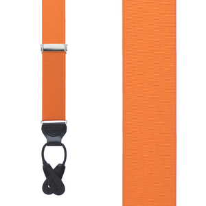 Grosgrain Button Suspenders - Orange Front View