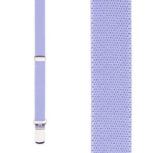 Skinny Suspenders in Light Purple - Front View