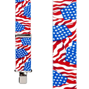 American Flag Suspenders - Front View