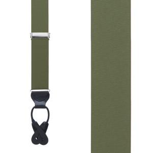 Grosgrain Suspender in Olive - Front View