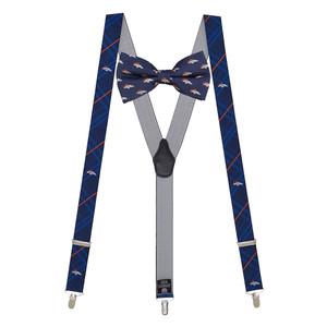 Denver Broncos Bow Tie & Suspenders Set - Full View