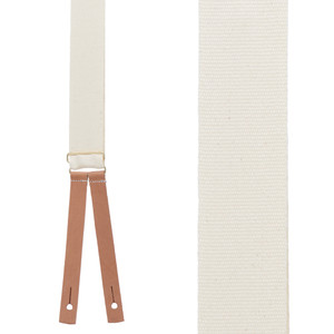Civil War Suspenders in Natural - Front View