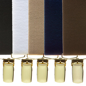 Brass Clip Suspenders - All Colors